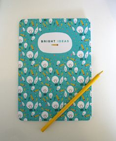 A5 Blank Notebook - 'Bright Ideas' - Sketchbook / Field Notes / Moleskine / Cahier