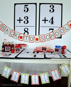 Back to School Party Printables by Dimple Prints -- Tatertots and Jello