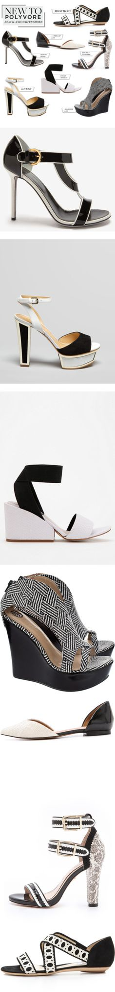 """""""New to Polyvore: Black-and-White Shoes"""" by polyvore-editorial ❤ liked on Polyvore"""