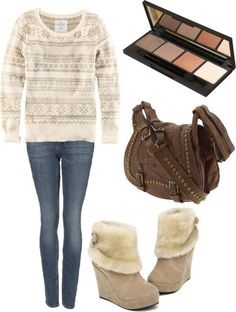 cute sweater, but different boots