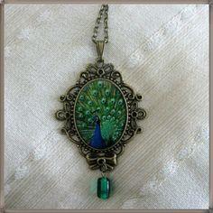 Peacock  necklace pi
