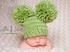 animal hats, crochet hatsscarvesmitten, hat patterns, crochet animals, diy craft, babi, diy idea, monsters, pom pom