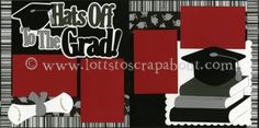 Hats Off To The Grad Scrapbook Page Kit