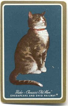 Chessie Cat Railroad Playing Card