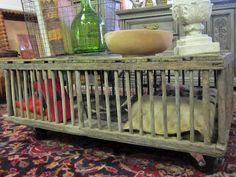 Repurposed chicken coop into a coffee table.  Vintage or country style. Found via TipJunkie.com
