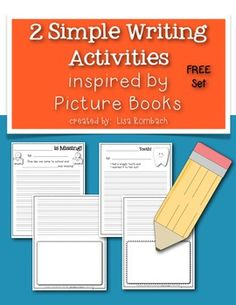 Simple Writing Activities Inspired by Picture Books FREEBIE (2 writing prompts to use after reading 2 literature books) FREE FREE FREE!!