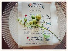 table settings, idea, saipua, menu cards, wedding flowers