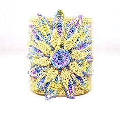 Irish #crochet cuff bracelet by Nothing but String