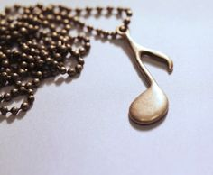 Musical Note Pendant $12