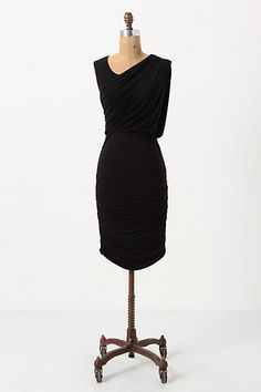 Ruched & Draped Column Dress #anthropologie