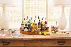 trays, mini bars, hermes, bar areas, drink, cocktail, bar cart, herm tray, home bars