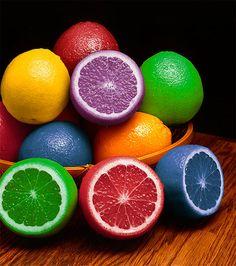 rainbow food...