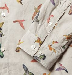 McQ Alexander McQueen Hummingbird-Print Cotton Shirt | MR PORTER