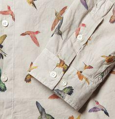McQ Alexander McQueenHummingbird-Print Cotton Shirt