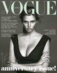 Lara Stone Vogue Korea cover