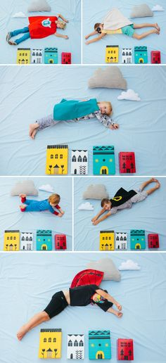 DIY superhero photo booth. What a fun idea for a children's party!