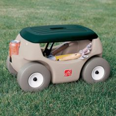 rolling garden seat with handle lawn garden