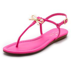 Kate Spade New York Tracie Bow Thong Sandals found on Polyvore