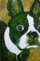 Boston Terrier Painting :)