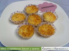 Mini magdalenas de beicon y queso de Thermomix