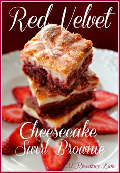 Red Velvet Cheesecake Brownie