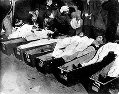 The Triangle Shirtwaist Factory fire in New York on March 25 1911 was the deadliest industrial disaster in the history of the city and resulted in the 4th highest loss of life from an industrial accident in U.S. history. The fire caused the deaths of 146 garment workers who either died from the fire or jumped to their deaths. Most of the victims were recent immigrant Jewish and Italian women aged 16 to 23.Many workers couldn't escape as managers had locked the doors to the stairwells and exits