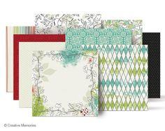 Enchanted Designer-Print 12x12 Paper from Creative Memories  #scrapbooking    www.creativememor...