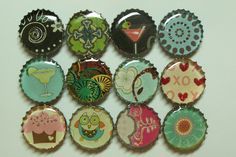 How to make bottlecap magnets - so cool!