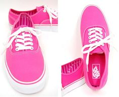 I love pink sneakers.