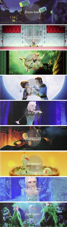 Musical Numbers In Frozen