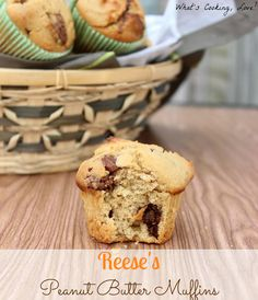 Reese's Peanut Butter Muffins - Whats Cooking Love?
