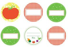 Super cute!  FREE printable canning labels.