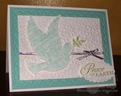 Rachel's Stamping Place: Elegant Christmas Card