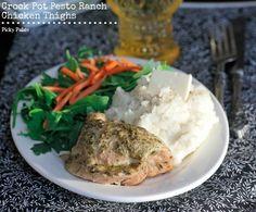 Pesto Ranch Crock Pot Chicken Thighs - Picky Palate