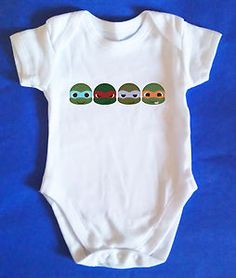 TEENAGE MUTANT NINJA TURTLES Baby Vest / Baby Grow, Retro, Baby Clothes, AWESOME | eBay