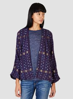 Couverture and The Garbstore - Womens - Ace & Jig - Woven Cardi