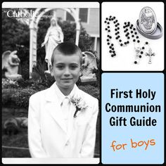 Not sure what to get your little guy on the wonderful occasion of receiving his First Holy Communion? Find our #CatholicCompany gift guide for boys here. communion gift, gift idea, gift guid