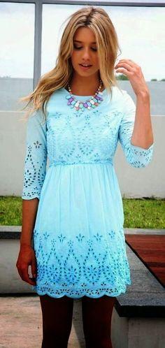 Lovely mint summer mini dress fashion