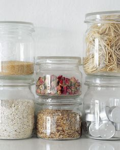 Charming White Kitchen ♥ Чаровна бяла кухня | 79 Ideas - clear food storage - canisters -jars