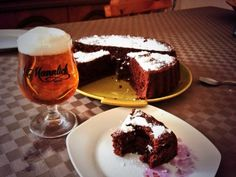 A good beer and chocolate cake. Life is beautiful at my grandparent's house !