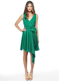 Jade Green drape dress #bridesmaid