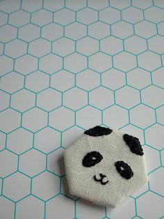 Panda. white tile, quilt, kid bathrooms, happi panda