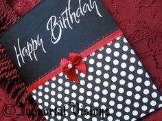 Gothic Happy Birthday Greeting Card  Polka Dots by ImmortalVisions, $5.50
