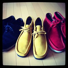 #Clarks #Wallabees #colorful