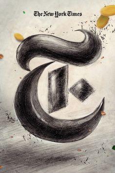 New York Times T Logo by Fangchi Gato, via Behance