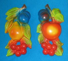 1974 Miller Studios Colorful Chalkware Fruit  2 by CookieGrandma60, $10.95. Chalkware! I'm hooked!