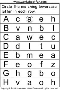 Preschool Worksheets - Lowercase and Small Letters