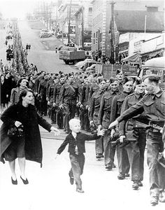 """Wait for Me, Daddy"" - One of the most famous Canadian photographs of WWII."