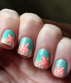 Starfish Summer Beach Nails - Would be super cute for toesies.