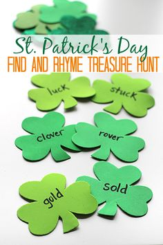 Fun and simple rhyming game for St.Patrick's Day.